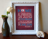 "Colorado Avalanche hockey Inspired Personalized & Customized ART PRINT- ""Home Is"" Parody Retro Unframed Print"