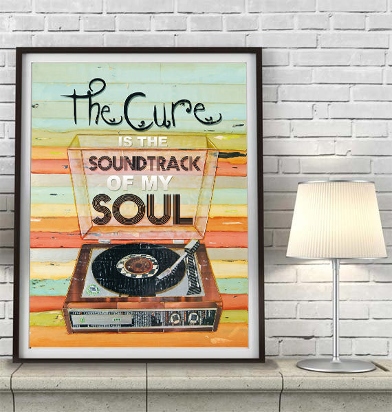 The Cure is the Soundtrack of My Soul - Mixed Media Collage -Danny Phillips Fine Art Print