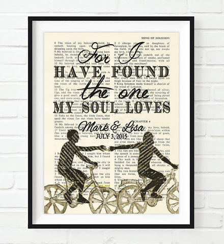 For I have found the One-Song of Solomon 3:4 Personalized  Bible Page ART PRINT