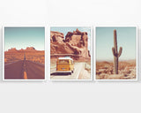 Vintage Desert Photography Prints, Set of 3, Home and Wall Decor