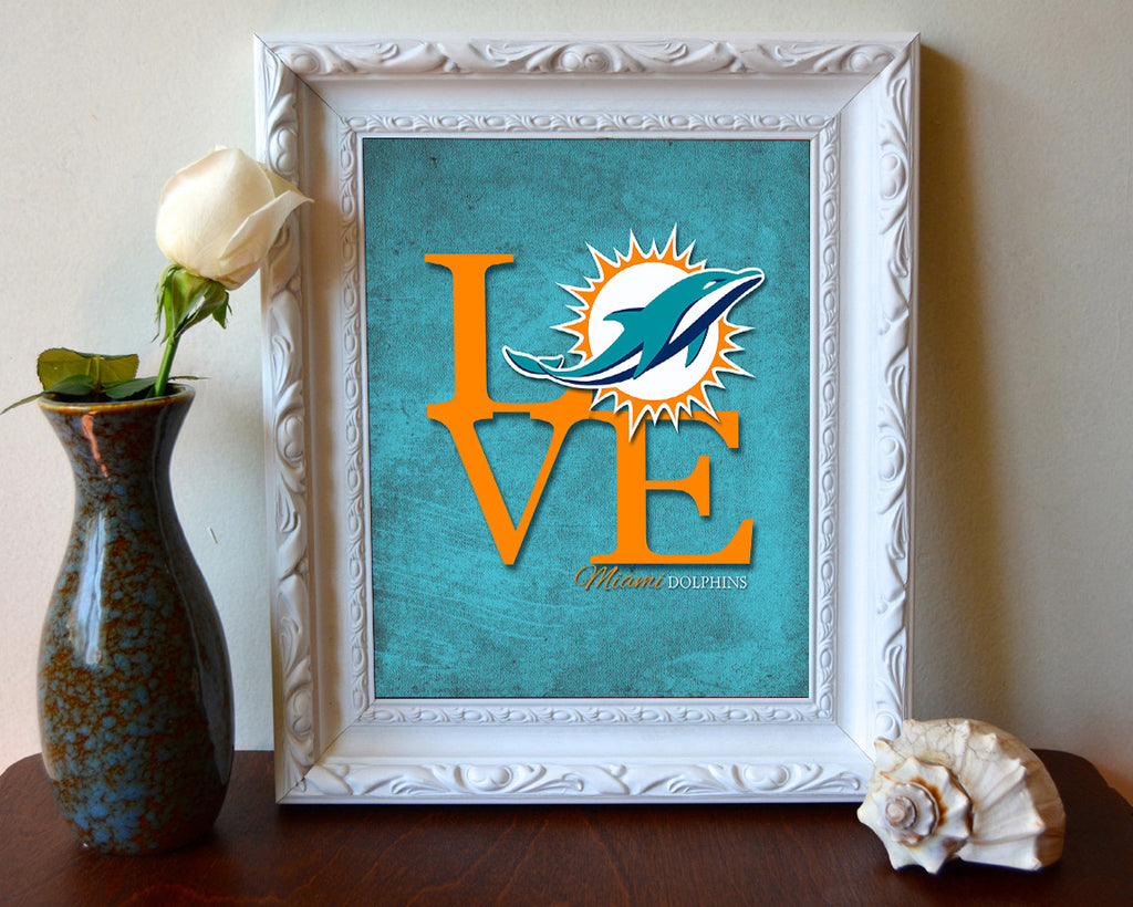 Miami dolphins football love art print poster gift parody art miami dolphins football love art print poster gift jeuxipadfo Image collections