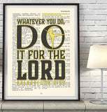 Whatever you do- Dancer -Colossians 3:23 -Vintage Bible Verse Christian Wall ART PRINT