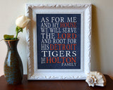 "Detroit Tigers Personalized ""As for Me"" Art Print"