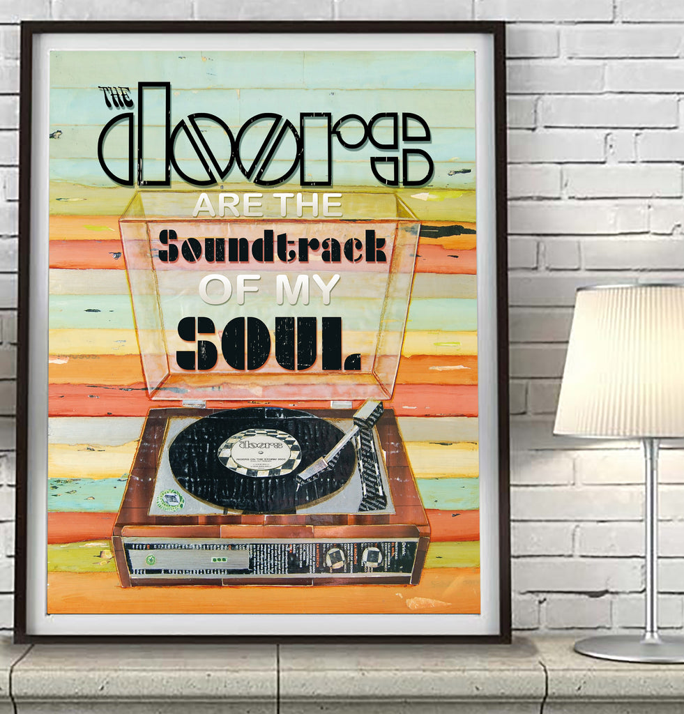 The Doors are Soundtrack of My Soul - Mixed Media Collage -Danny Phillips Fine Art Print
