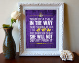 "East Carolina ECU Pirates inspired ""Train Up A Child"" ART PRINT, Sports Wall Decor, kids room/baby room gift, Unframed"