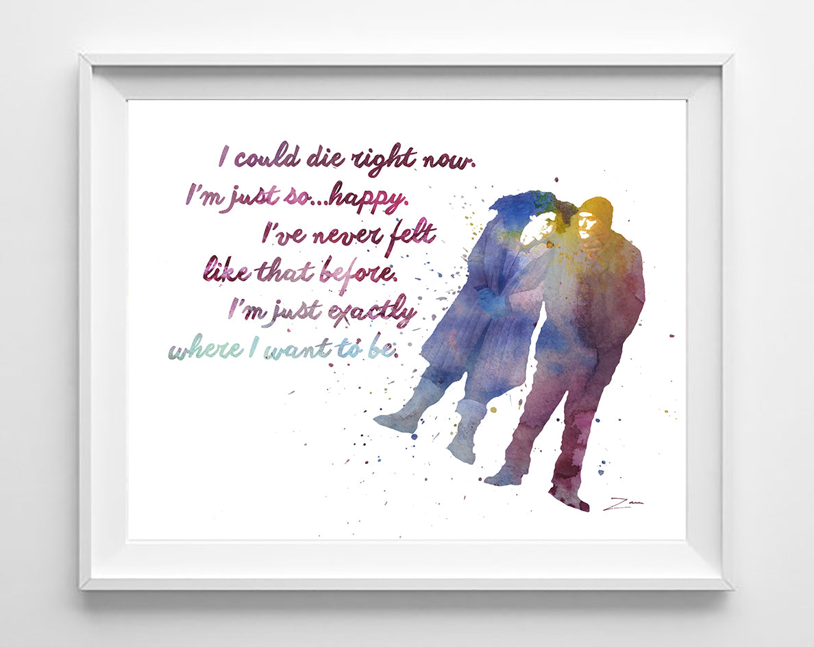Eternal Sunshine of the Spotless Mind quote Art Print Poster Gift