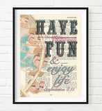 Have Fun and enjoy life - Ecclesiastes 8:15 Bible Page Christian ART PRINT