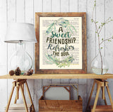 A Sweet Friendship Refreshes the Soul - Proverbs 27:9 Bible Verse Page Christian Art Print