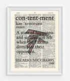 "Atlanta Falcons ""Contentment"" Art Print - Christmas poster gift"