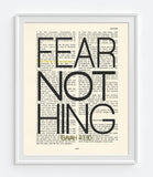 Fear Nothing- Isaiah 41:10 Bible Page  Christian ART PRINT