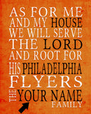 "Philadelphia Flyers hockey inspired Personalized Customized Art Print- ""As for Me"" Parody- Unframed Print"