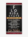 "Florida State Seminoles ""Eye Chart"" ART PRINT"