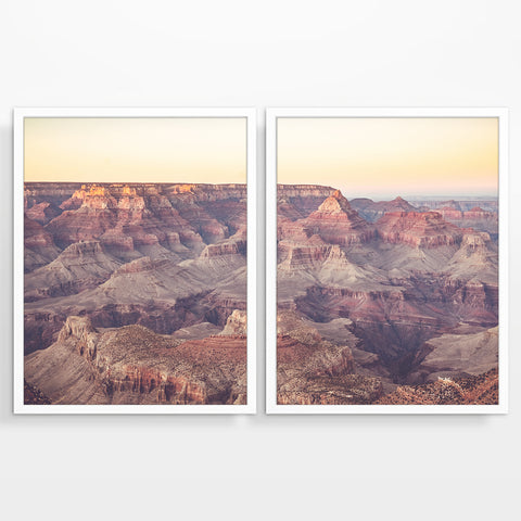 Grand Canyon Arizona Aerial Photography Prints, Set of 2, Arizona Landscape Wall Decor