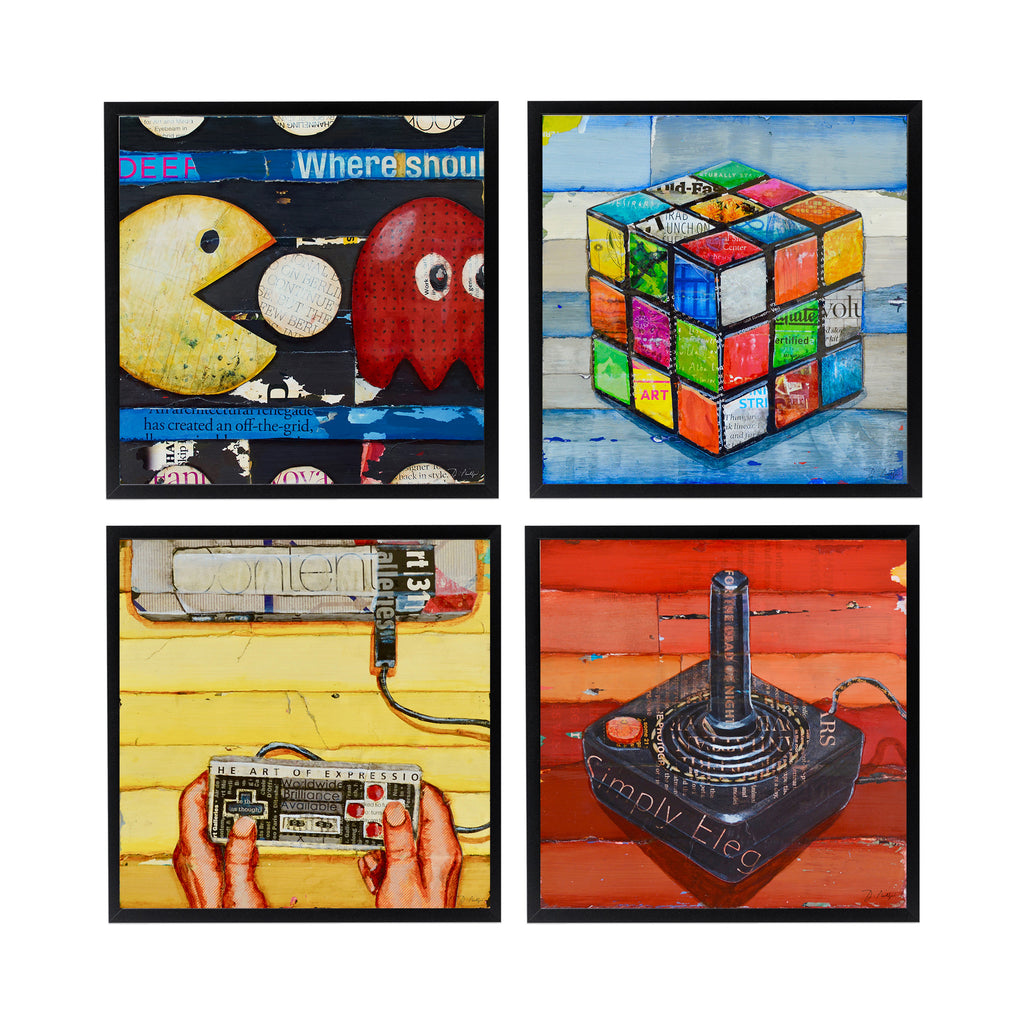 80's Retro Vintage Gaming Set of 4- Danny Phillips Fine Art Prints