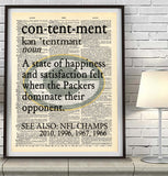 "Green Bay Packers ""Contentment"" Art Print - Christmas poster gift"