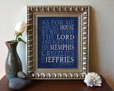 "Memphis Grizzlies basketball inspired Personalized Customized Art Print- ""As for Me"" Parody- Unframed Print"