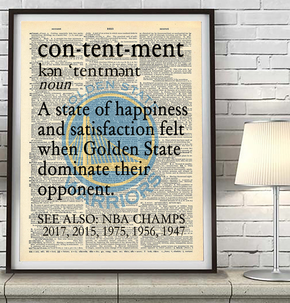 "Golden State Warriors ""Contentment"" Art Print - Christmas poster gift"
