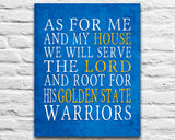 "Golden State Warriors basketball inspired Personalized Customized Art Print- ""As for Me"" Parody- Unframed Print"