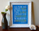 "Golden State Warriors Personalized ""As for Me"" Art Print"