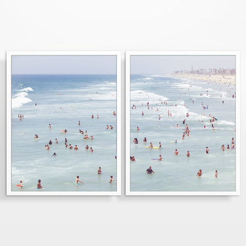 Huntington Beach California Photography Prints, Set of 2