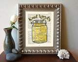 Kind words are like honey- Proverbs 16:24 Bible Page Christian ART PRINT