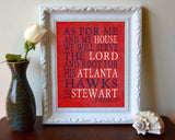 "Atlanta Hawks basketball inspired Personalized Customized Art Print- ""As for Me"" Parody- Unframed Print"