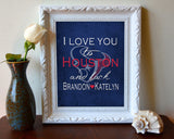 "Houston Texans personalized ""I Love You to Houston and Back"" Art Print Poster Gift"