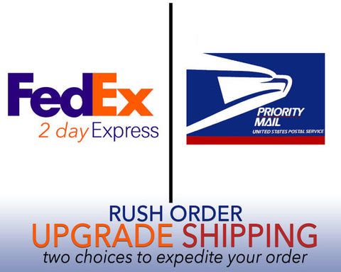 UPGRADED SHIPPING OPTIONS