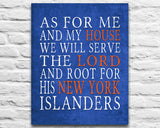 "New York Islanders hockey inspired Personalized Customized Art Print- ""As for Me"" Parody- Unframed Print"