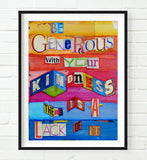Kentucky Wildcats UK Inspired Phonics/Phonetic ART PRINT Using Old Dictionary Pages, Unframed