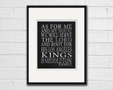 "Los Angeles Kings hockey inspired Personalized Customized Art Print- ""As for Me"" Parody- Unframed Print"