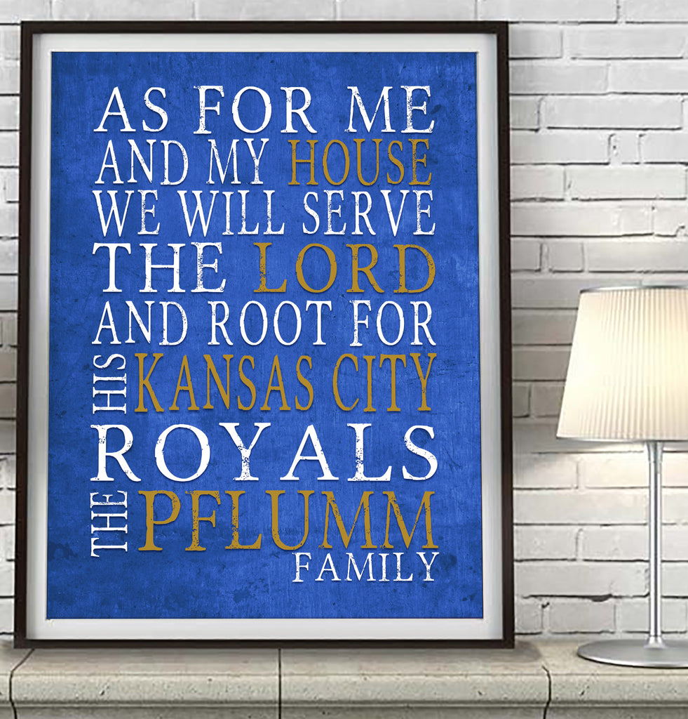 "Kansas City Royals Personalized ""As for Me"" Art Print"