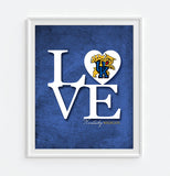 "Kentucky Wildcats ""Love"" ART PRINT, Sports Wall Decor, man cave gift for him, Unframed"