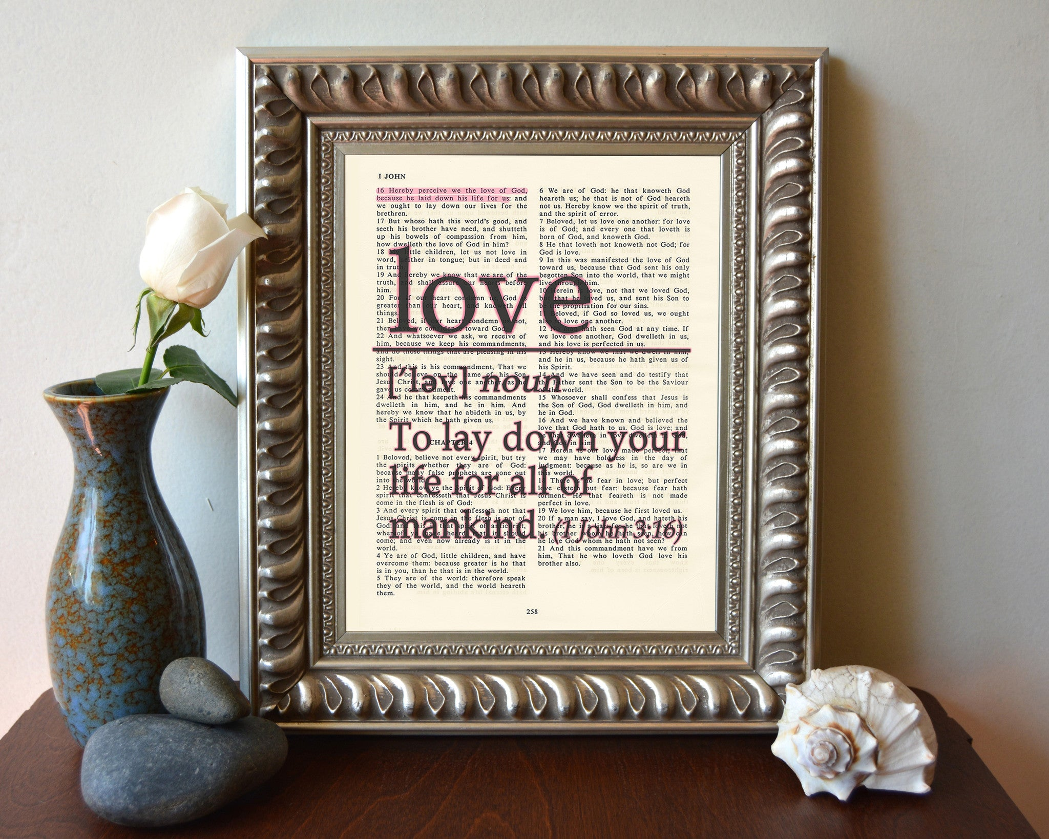 Love Definition - to lay down your life - 1 John 3:16 Bible