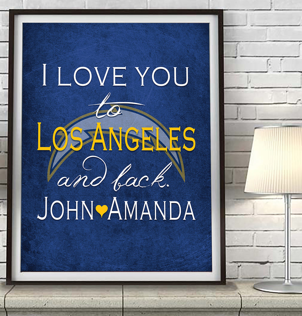 Los Angeles Chargers I Love You To Los Angeles And Back