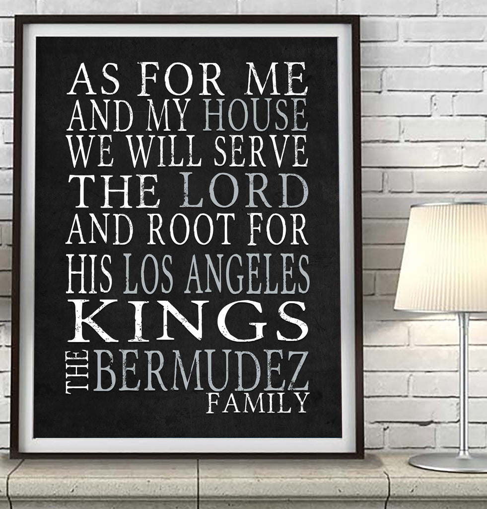 "Los Angeles Kings hockey  Personalized ""As for Me"" Art Print"