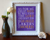 "Los Angeles Lakers basketball inspired Personalized Art Print- ""As for Me""- Unframed"