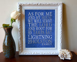 "Tampa Bay Lightning hockey inspired Personalized Customized Art Print- ""As for Me"" Parody- Unframed Print"