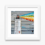 There is a Light - Danny Phillips Fine Art Print, Lighthouse with Rainbow rays, UNFRAMED, All Sizes
