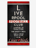 "Liverpool FC Football Club ""Eye Chart"" ART PRINT"