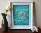 "Miami Dolphins ""I Love You to Miami and Back"" Art Print Poster Gift"