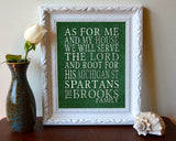 "Michigan State Spartans Customized Art Print- ""As for Me"" Parody- Unframed Print"
