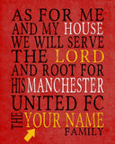"Manchester United FC football club Personalized ""As for Me"" Art Print"