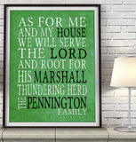 "Marshall Thundering Herd Personalized ""As for Me"" Art Print"