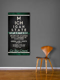 "Michigan State Spartans ""Eye Chart"" ART PRINT"