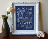 "Milwaukee Brewers baseball Personalized Art Print- ""As for Me"" Parody-Unframed Print"