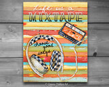 Life is a Mixtape- Choose Good songs - Danny Phillips Fine Art Print