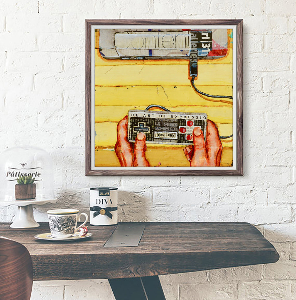 Hands On - 80's Retro Vintage Nintendo Controller  - Danny Phillips Fine Art Print