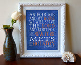 "New York Mets baseball inspired Personalized Customized Art Print- ""As for Me"" Parody- Unframed Print"