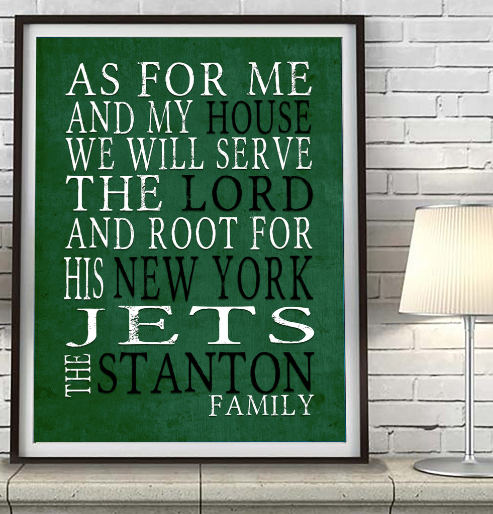 "New York Jets Personalized ""As for Me"" Art Print"
